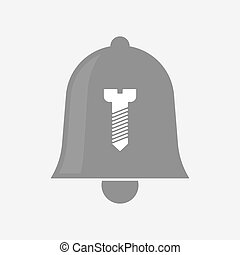 Isolated  bell with a screw