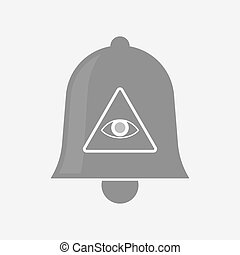 Isolated bell with an all seeing eye - Illustration of an...