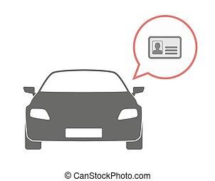 Isolated car with an id card