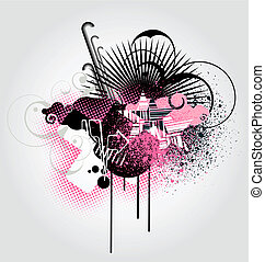 abstract background - Vector illustration of urban...