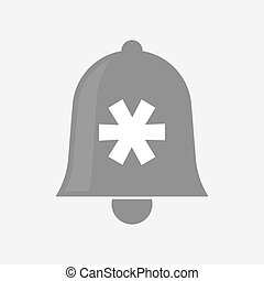 Isolated bell with an asterisk - Illustration of an isolated...