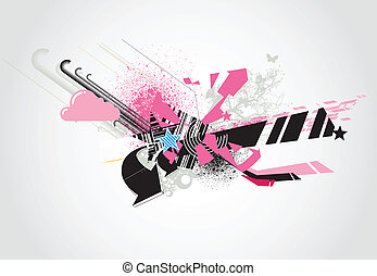 abstract background - Vector illustration of styled...