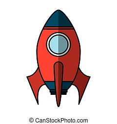 rocket launcher isolated icon vector illustration design