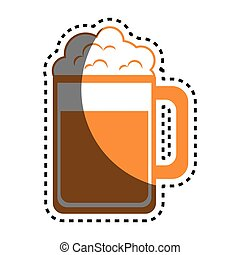 beer glass drink icon
