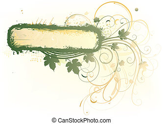Floral Decorative background - Vector illustration of styled...