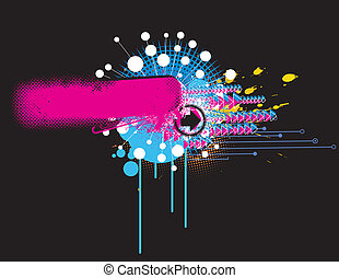 abstract background - Vector illustration of black urban...