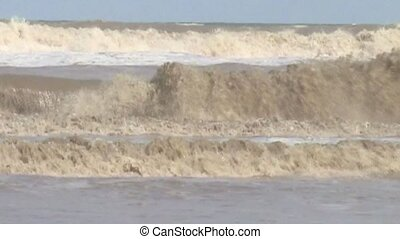 Waves on the beach in South Africa  (Indian Ocean)