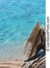 Summer Sithonia rocky coast, Greece. - Summer rocky coast...