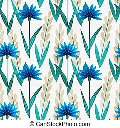 Seamless floral pattern - Seamless pattern with decorative...