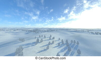 Snowy field - 3D CG rendering of snowy field.