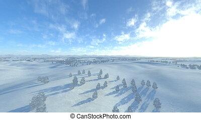 Snowy field - 3D CG rendering of snowy field.