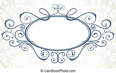 titling frame - Vector illustration of ornamental original...