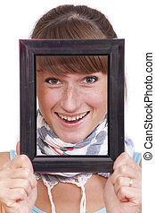 looking through picture frame