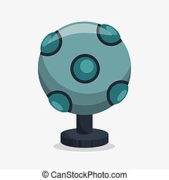 Augmented reality sensor technology icon vector illustration...