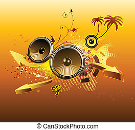 abstract party design - Vector illustration of grunge...