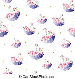 Background wallpaper with umbrellas. Vector - Background...