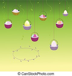 Spring background wallpaper with birds. Vector. Background.