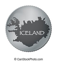 Iceland Coin - An Iceland coin isolated on a white...