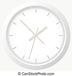 Clock flat icon. World time concept.