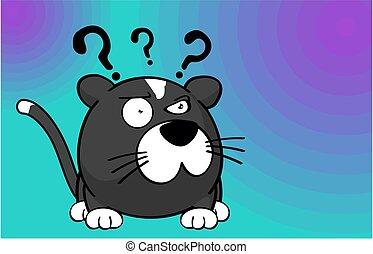 cute little ball cat cartoon background