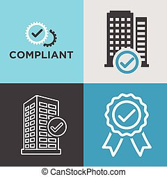 In Compliance Graphic Icon Set - In Compliance Graphic with...