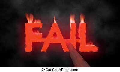 Fail hot text brand branding iron epic metal flaming heat...