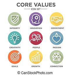 Core Values Round MultiColored - Company Core Values Solid...