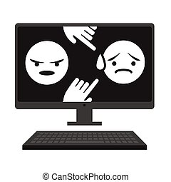 Cyber Bullying Graphic with Victim and Troll