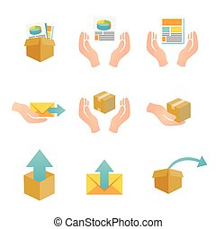 Marketing Company Digital Products Icons with Collateral and...