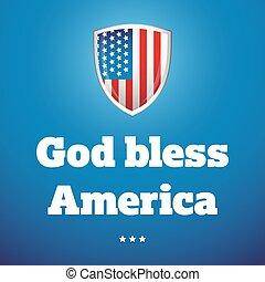 God bless America banner vector