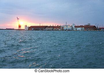 Beautiful view of Thessaloniki, Chalkidiki, Greece