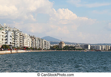 Beautiful view of Thessaloniki, Chalkidiki, Greece