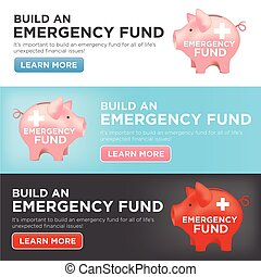 Financial Emergency Fund Piggy Bank to Protect from Home,...