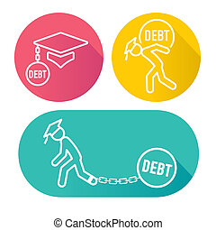 Graduate Student Loan Icons