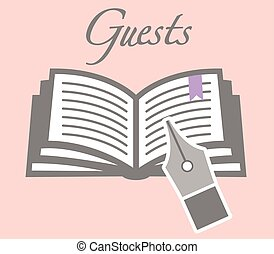 Guestbook Stock Illustrations. 317 Guestbook clip art images and ...