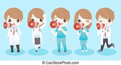 cute cartoon doctors