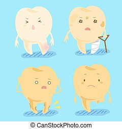 cartoon tooth dacay