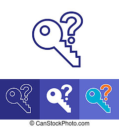 Password Hint Icon with Question Mark - Icon for those who...