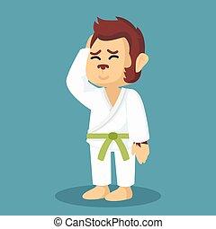monkey green belt karateka