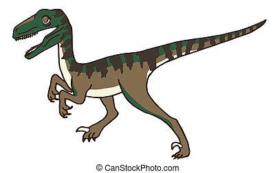 Velociraptor, lindo, el suyo, quizá, ambulante, acecho,...