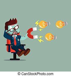 zombie businessman magnet bulb
