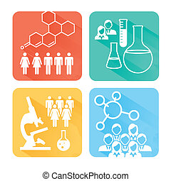 Science and Research Icons Rect 2 - Medical Healthcare Icons...