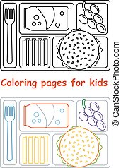 Coloring pages for kids with lunch tray - Coloring pages for...