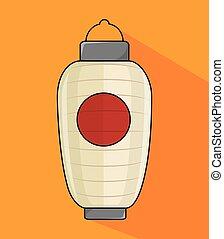 japanese culture lantern icon vector illustration design