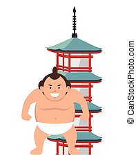 Sumo wrestler japanese icon