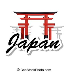 japanese culture architecture icon vector illustration...