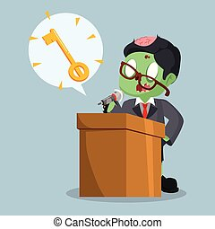 zombie businessman with key callout