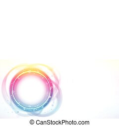 Rainbow Circle Border Frame Brush Effect - Vector - Rainbow...