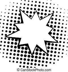 Vintage Pop Art Comics Speech Bubbles Vector Black and White...