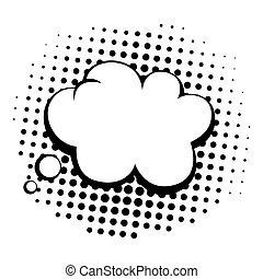Vintage Pop Art Comics Speech Bubbles Vector Black and White...